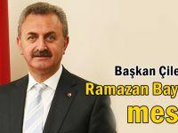 Başkan Çiler'den Ramazan Bayramı Mesajı