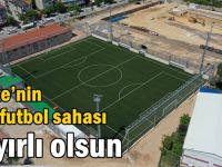 Gebze'nin yeni futbol sahası hayırlı olsun