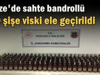 Gebze'de sahte bandrollü 190 şişe viski ele geçirildi