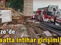 Gebze'de İnşaatta intihar girişimi!