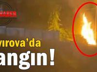 Çayırova'da yangın!