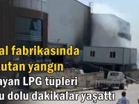 İnfilak eden LPG tüpleri korkuttu