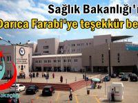 Sağlık Bakanlığı'ndan Darıca Farabi'ye teşekkür