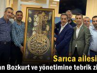Sarıca ailesinden Dilovası Ağrılılar Derneği Başkanı Bozkurt'a tebrik ziyareti