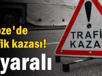 Gebze'de trafik kazası! 3 yaralı