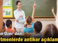 Bakan Özer'den öğretmenlerde antikor açıklaması