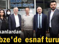 Başkanlardan Hacı Halil'de esnaf turu