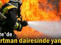 Gebze'de apartman dairesinde yangın