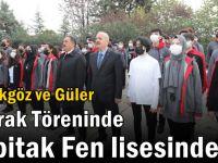 Güler ve Başkan Büyükgöz Bayrak Töreninde Tübitak Fen Lisesinde