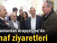 Başkanlardan Arapçeşme'de Esnaf Ziyaretleri