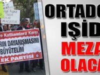 Işid, ABD ve AK PARTİ protesto edildi