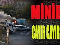 Minibüs Cayır Cayır Yandı!