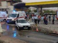 LPG dolumu yapılan otomobil alev aldı: 4 yaralı