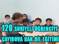 120 suriyeli öğrenciye çayırova'dan dil eğitimi