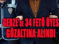 GEBZE'de 34 FETÖ ÜYESİ GÖZALTINA ALINDI
