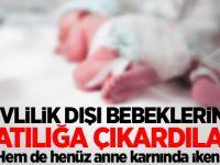Evlilik dışı bebeklerini anne karnındayken internette satışa çıkardılar