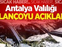 Antalya Valiliği bilançoyu açıkladı!