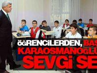 Öğrencilerden, Başkan Karaosmanoğlu'na sevgi seli