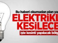 Elektrik Kesintisi Yapılacak!