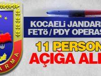 Kocaeli Jandarma'da 11 personel açığa alındı