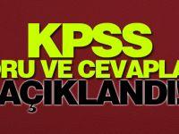 KPSS Soru ve Cevapları Açıklandı!