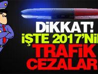 İşte 2017'nin trafik cezaları
