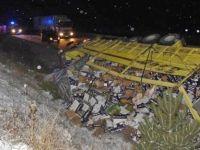 Buzlanan yolda 5 ayrı kaza