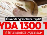 Üniversite öğrencilerine müjde! Aylık 1.300 TL maaş
