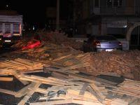 20 ton keresteyi yola devirdi