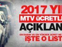 2017 yılı MTV ücretleri açıklandı!