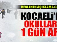 Kocaeli'de okullar 1 gün tatil edildi