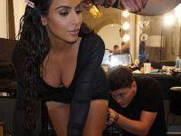 Kim Kardashian poposuna makyaj yaptırdı