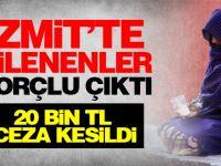 Zabıta ekipleri İzmit'te dilencilere ceza kesti