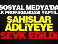 Sosyal medyada PKK propagandası yapan 3 kişi adliyeye sevk edildi