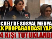 Sosyal medya üzerinde PKK propagandası yapan 4 kişi tutuklandı