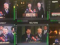 Dünya basını Vali Vasip Şahin'in açıklamalarını canlı yayınladı