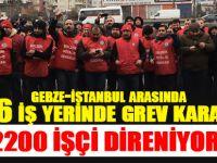 Gebze-İstanbul arasında 26 iş yerinde grev kararı