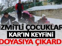 İzmitli çocuklar kar'ın keyfini doyasıya çıkardı