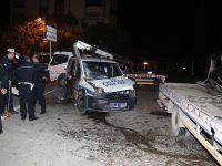 Kaza yerine gelen polislerin aracı da kazaya uğradı