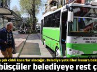 Otobüsçüler belediyeye rest çekti