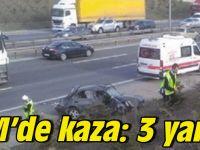 TEM'de kaza: 3 yaralı