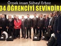 Süheyl Erboz 234 öğrenciyi sevindirdi