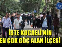 İşte Kocaeli'nin en çok göç alan ilçesi