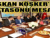 Başkan Köşker'den Haftasonu Mesaisi