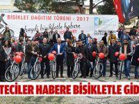 Gazeteciler habere bisikletle gidecek