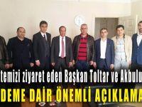 Başkan Toltar ve Akbulut'tan gazetemize ziyaret