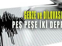 Gebze ve Dilovası'nda peş peşe iki deprem oldu