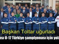Dilovası U-17 Türkiye şampiyonası için yola çıktı