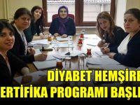 Diyabet hemşireliği sertifika programı başlıyor