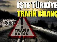 İşte Türkiye'nin trafik bilançosu